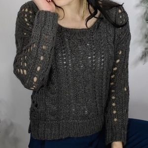 Free People Sweaters - Free People Chunky Knit Fuzzy Sweater